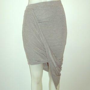 Tobi Nina Knit Asymmetrical Skirt